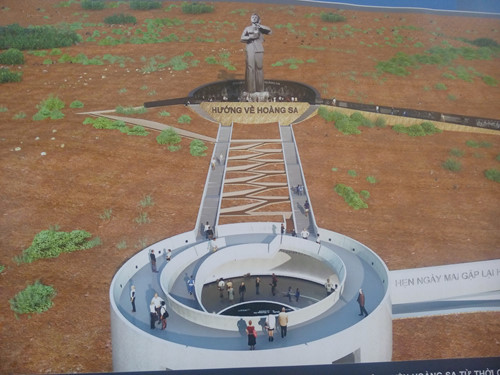 Một phần của đề án thiết kế về Hoàng Sa được trưng bày tại triển lãm hôm 12.12, tại Cung văn hóa Lao động TP.HCM